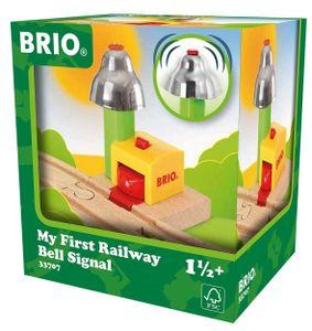 BRIO My First Railway Bell Signal, Szenenbild, BRIO, 1,5 Jahr(e), 1 Stück(e), Grün, Rot, Holz, Gelb, 82 mm