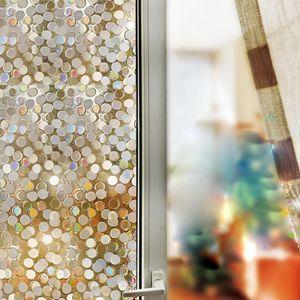 3D-Datenschutz Fensterfolie Glasmalerei Statischer Haftaufkleber Mattierter Aufkleber Fensteraufkleber, Glasaufkleber 45*200cm