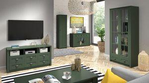 Wohnzimmer Komplett - Set A Segnas, 5-teilig, Farbe: Grün