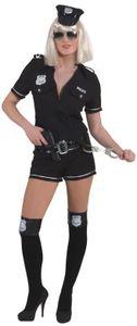 Gr. 40 Police Girl,Schwarz Overall,Gürtel Kostüm