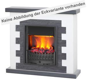 muenkel design Livanto [Elektro Eckkamin Opti-myst Landhausstil mit schwarzem Schiefer verkleidet]: Danville schwarz