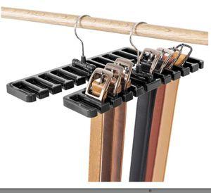 Gürtelhalter Rack Halter 10 Slot Tie Gürtel Schal Rack Organizer Robuste Kunststoff Schrank Kleiderschrank Space Saver(schwarz)