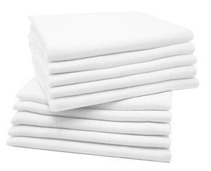 Spucktücher 10er Set, Baumwolle, ca. 80x80 cm, weiß