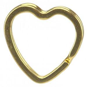20 Herz Stern Schlüsselringe gold gemischte Formen