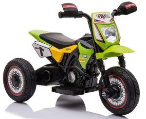 Kinder Elektro Motorrad Dreirad Trike TRIMOTO grün mit Frontscheinwerfer elektrisch