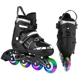 Kinder Inliner Inlineskates Skates Rollschuhen,Verstellbare Inline Skates mit Beleuchteten Rädern ,Roller Skates mit 82A Polyurethan Rädern,ABEC7,für Jungen, Mädchen, Anfänger,Einstellbarer Größe 39-42