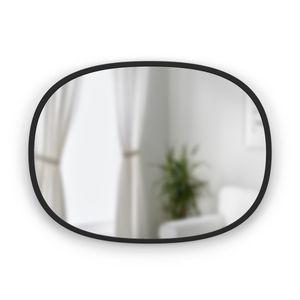 UMBRA HUB MIRROR Wandspiegel Garderobenspiegel Spiegel oval schwarz 1013765-040