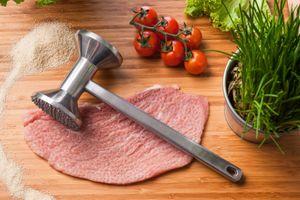WELLGRO® Fleischklopfer 28 cm - Fleischhammer - Schnitzelklopfer - Steakhammer - Aluminium - Küchenhelfer