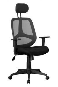 AMSTYLE Bürostuhl Stoffbezug Schreibtischstuhl 120 kg Armlehne schwarz Chefsessel Drehstuhl Kopfstütze X-XL