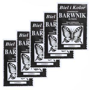 5 x 10g Batikfarbe Textilfarbe Stofffarbe färben, bitte Farbmix wählen, Farbe:schwarz