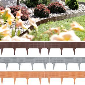 Prosperplast Obrzee GARDEN BORDER - terakota, Garten-Einfassungsstreifen, Kunststoff, Braun, 1865 mm, 3,9 m, Box