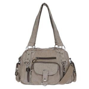 Damenhandtasche Schultertasche Tasche Umhängetasche Canvas Shopper Crossover Bag Khaki