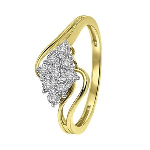 585 Gelbgold-Ring Entourage mit Diamant -  62