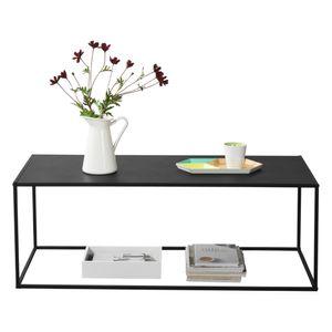 Couchtisch Schwarz Metall Tisch Beistelltisch Wohnzimmertisch Sofatisch [en.casa]