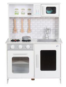Coemo Kinderküche Lea Weiß mit viel Zubehör Spielküche