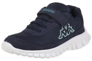 Kappa Unisex-Kinder Sneaker Follow K navy/mint, Schuhgröße:30 EU