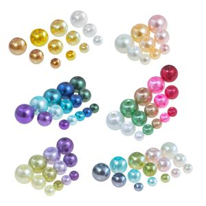 100 Glas-Perlen rund 8mm Fädelperlen Bastelperlen 8mm Farbmix, Farbe:Farbmix 5