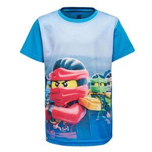 Lego Wear Jungen T-Shirt Ninjago mittelblau M-72506 Gr. 104 - 140 104