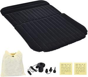 Auto Luftmatratze mit Elektropumpe, Bewegliche Aufblasbare Luftbett für Auto-Rücksitz, Air Bett, Dickere Luftbett für Camping, Reisen, Outdoor Aktivitaeten (Schwarz)