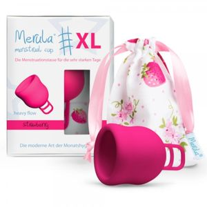 Merula Cup Menstruationstasse XL Farbe - Strawberry