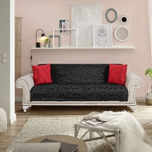 Tagesdecke Möbelschutz Sofaüberwurf / Couchüberwurf Anti-rutsch Sesselschutz Überwürfe Sofa Abdeckung Sofaschutz Couchüberzug Schwarz