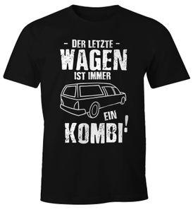 Sarkastisches Herren T-Shirt Der letzte Wagen ist immer ein Kombi Fun-Shirt Moonworks®  XL