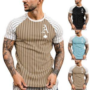 Lässiges Sommer-Sweatshirt-T-Shirt Für Herren Mit Kurzen Ärmeln,Farbe: Aprikose,Größe:L