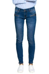 BLUE FIRE Co Alicia Skinny-Jeans stilvolle Damen Denim-Hose im leichten Used-Look Blau, Größe:W28/L30