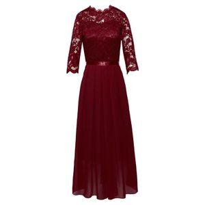 Damen y Kleid Bankett Party Abendkleid,Farbe: Rot,Größe:XL