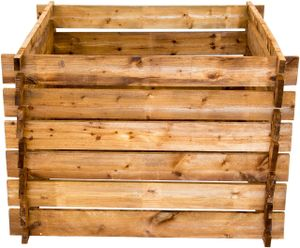 Komposter aus Holz, Gartenkomposter imprägniert braun imprägniert