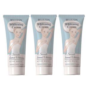 3X Bleaching Creme, 60ml Achselbeine Knie Private Teile Aufhellende Whitening-Creme Hautaufhellende Creme für alle Hauttypen