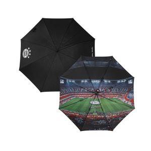 FC Bayern München Regenschirm FCB Allianz Arena Schirm Stockschirm Schwarz 120cm