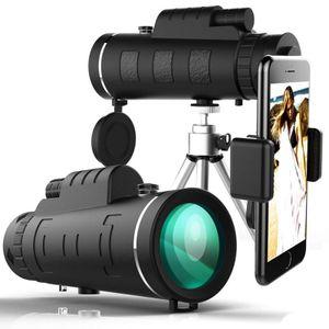 40X60 Zoom Optisches Mobiles Teleskop Telefonobjektiv HD-Objektiv Monokular + Stativ + Handyhalter