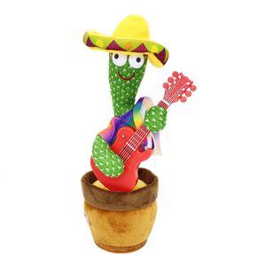 Tanzender Kaktus Elektrisches Plüschtier, USB-Aufladung Singender und Sprechender Kaktus Kuscheltiere mit 120 englischen Liedern, Spielzeug Geschenk für Jungen, Mädchen(D)