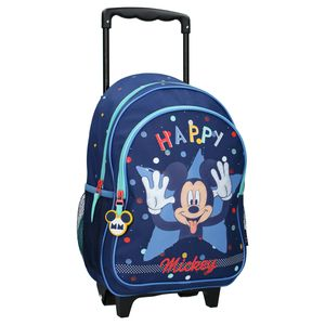 Minnie & Mickey Mouse Trolley Rucksäcke Disney Mickey Mouse Trolley Kinderrucksack - Happy - Blau