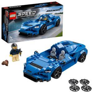 LEGO 76902 Speed Champions McLaren Elva Rennwagen, Spielzeugauto, Modellauto zum selber Bauen