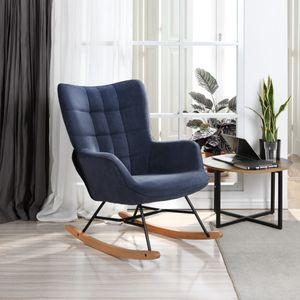 Neu Leinen Schaukelstuhl, Lounge Chair, Sessel-Blau