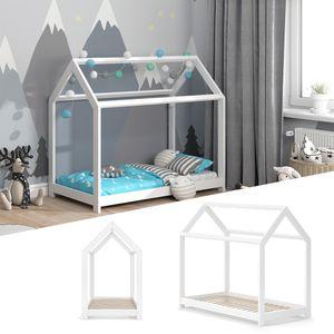 VITALISPA Hausbett WIKI 70x140 Weiß Kinderbett Kinderhaus Kinder Bett Holz
