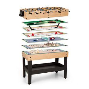 oneConcept Game-Star - Spieletisch , Multifunktionstisch , Multigame , 15 Verschiedene Spiele , höhenverstellbare Tischfüße , ausführliche Spielbeschreibungen , Maße: ca. 105 x 71 x 58 cm (BxHxT)