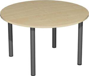 Konferenztisch, kreisform, Ø 120 cm,  verschiedene Farben, Farbe:Ahorn, Gestellfarbe:Anthrazit