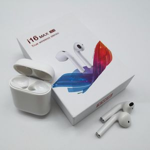2020 neues i16 Max TWS Bluetooth V5.0 Headset automatische Kopplung drahtlose 3D-Stereo-Ohrhörer-Touch-Steuerung für iPhone Huawei Xiaomi