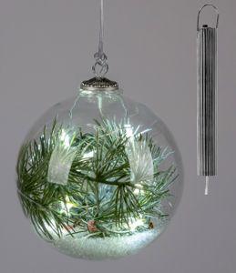 Formano - Glaskugel 12cm mit LED+Timer