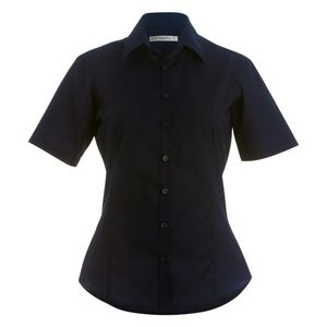 Kustom Kit Damen Hemd, kurzärmlig PC2509 (32 DE) (Schwarz)
