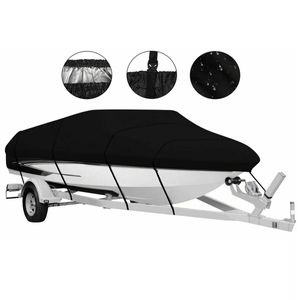 Bootspersenning Bootsabdeckung Persenning Schlauchboot Bootsplane Wasserdicht Staub Schutz Cover Schwarz Größe: 420 x 270cm