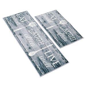 2 stk. Küchenmatte Teppich Fußmatte Küchenteppich Läufer Matte für Küche Esszimmer, 75cm / 120cm