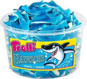 Trolli Haifische Schaumgummi Fruchtgummi wiederverschließbar 1200g