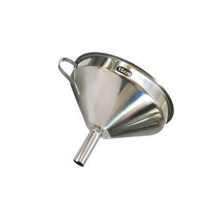11-15cm Edelstahltrichter mit Sieb 15cm Silber