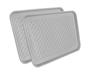 Schuhablage Universal 60x40cm - 2 Stück - Farbe: grau