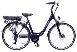 Amigo E-Active - Elektrofahrrad für damen - E-bike 28 Zoll - Citybike mit Shimano 7-Gang - Nabenschaltung - 250W, 36V Li-ion-Akku - Schwarz