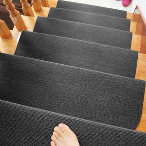 Stufenmatten 15er Set Treppen-Matten Treppenmatten Treppenteppich Treppenschutz ,SCHWARZ